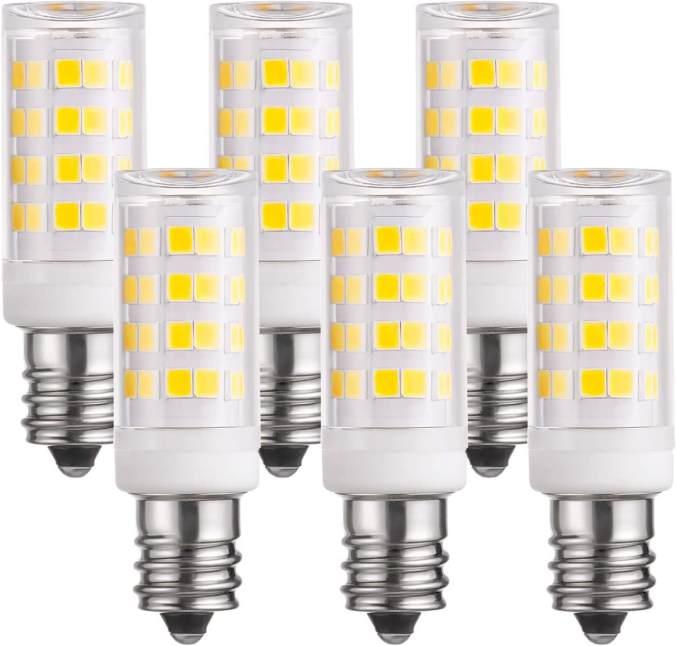 TORCHSTAR E12 Candelabra LED Bulb, 3W (30W Eqv.), Surge Protection, 380lm, 3000K Warm White, 360° All-Round Beam Angle Bulb for Ceiling Fan Lights, Chandeliers, Pack of 6, Generation 1