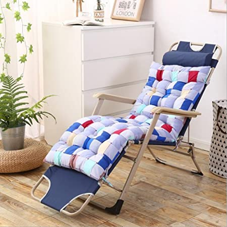 Respaldo alto Chaise Lounge cojín cojines de silla de jardín al aire libre colchón HL 125 * 48 * 7 cm para tumbona de jardín reclinable interior Veranda, Color diamond, 125*48*7cm: Amazon.es: Hogar