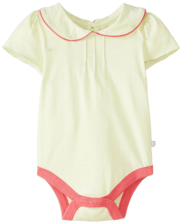 Babysoy Baby Girls' Puff-Sleeve Bodysuit (Baby) - Cantaloupe