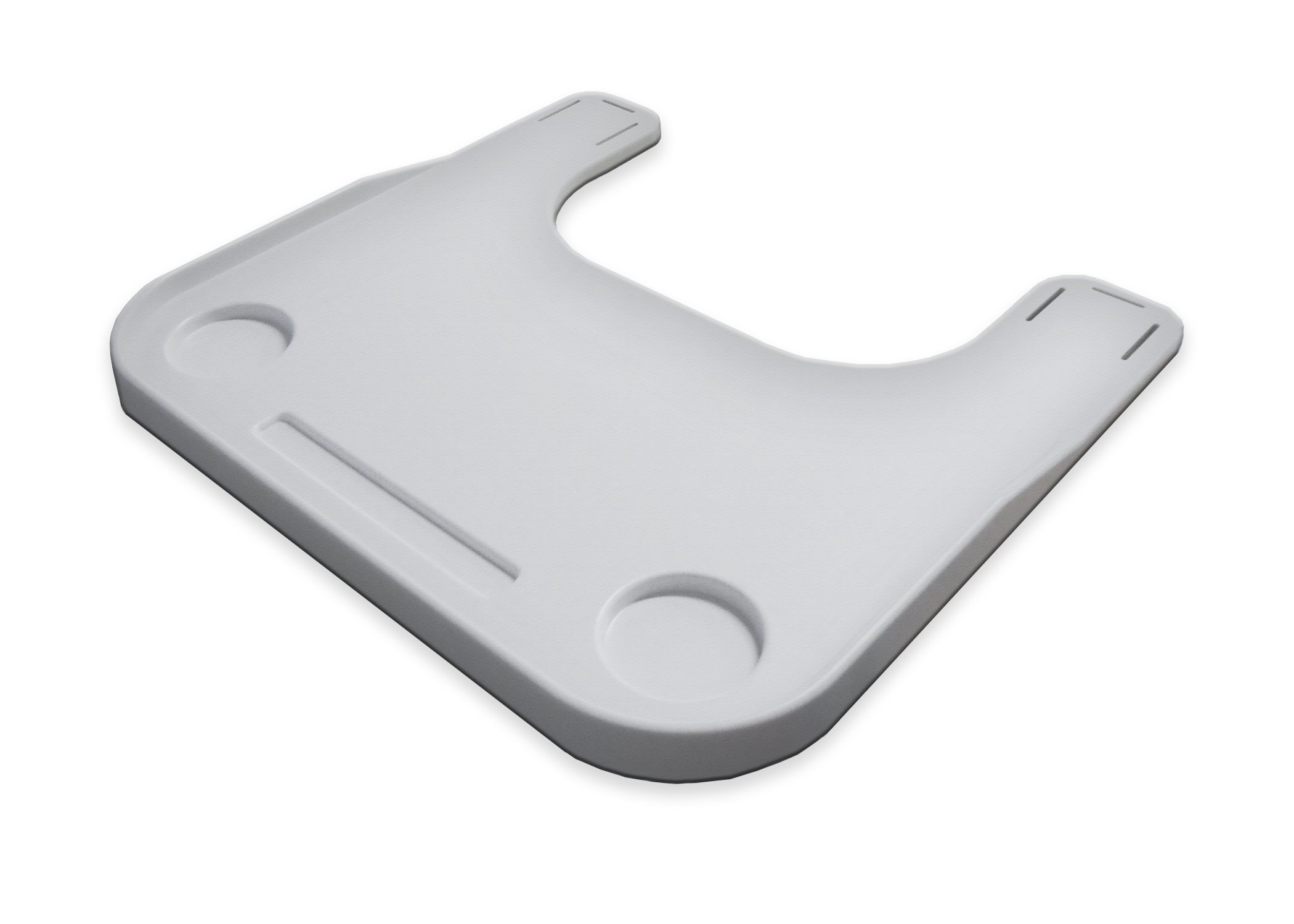Rehabilitation Advantage Plastic Molded Wheelchair Lap Tray, Speckled Gray