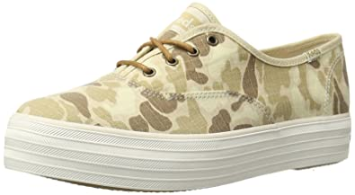 cb9af28d4dab Keds Women s Triple Camo Ripstop Fashion Sneaker Tan