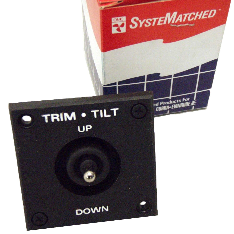 Johnson/Evinrude/OMC New OEM Trim & Tilt Switch & Bezel 174652, 0174652 by Johnson/Evinrude/OMC/BRP