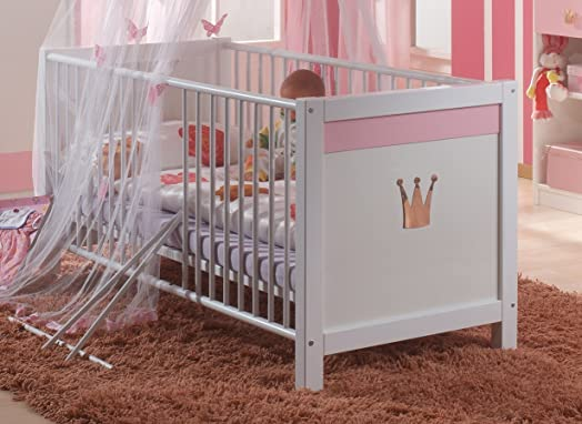Cinderella Baby Bed Princess Baby Girls Nursery Bedroom Furniture Bed  Wardrobe Set German (Baby Bed