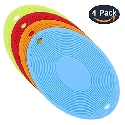 Silicone Trivet Mats 12u0027u0027 X 8u0027u0027  Set Of 4 Premium Hot