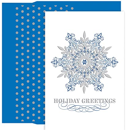 Amazon great papers holiday greeting card ornate snowflake great papers holiday greeting card ornate snowflake 18 cards18 foil m4hsunfo