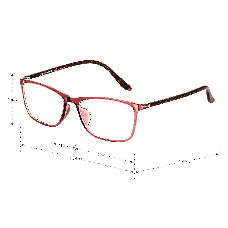 0184634aeb2d Jimmy Orange Designer Mens Womens TR Frame Acetate Vintage Fashion Optical  Glasses Frames J5201 Brown: Amazon.co.uk: Clothing