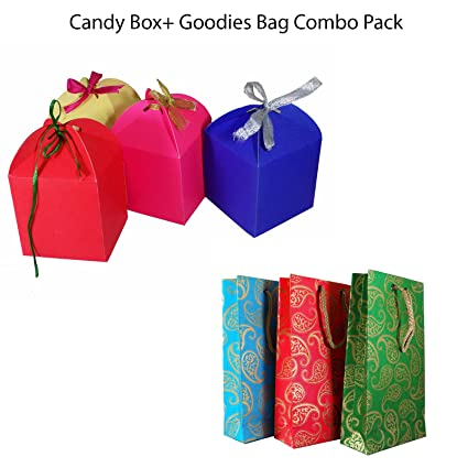 Brown Leaf Royal Premium Multicolored Handmade Candy Box With