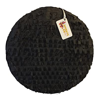 "APINATA4U 16"" Round Blank Pinata Black Color Great to Create Your Own Pinata: Toys & Games"