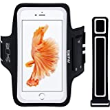 EOTW Fascia da Braccio Bracciale Sportiva per Smartphone Samsung Huawei Asus LG iPhone 6/6S Plus da Corsa Maratona Palestra Running Jogging (5,5 inch,Nero)