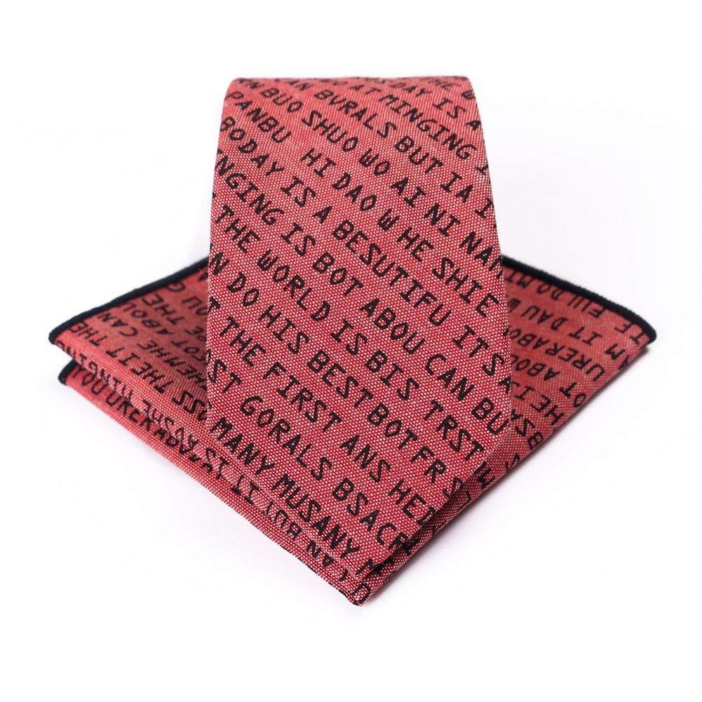 Ogquaton Letra Cotton Tie Impreso Letras en inglés Hombres y ...
