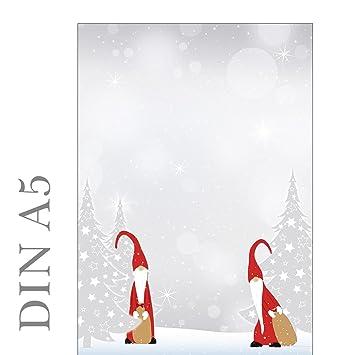 Motivpapier Weihnachten.Briefpapier Motivpapier Weihnachten Wichtel 100 Blatt Din A5 90 G M