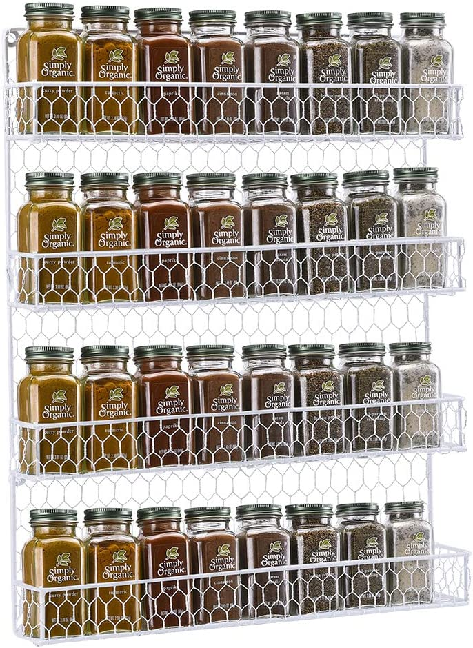Ploufer Acrylic Wall Spice Rack Wall Mount for Spices Clear Spice Rack Organizer Spice Rack for Home&Kitchen consistent
