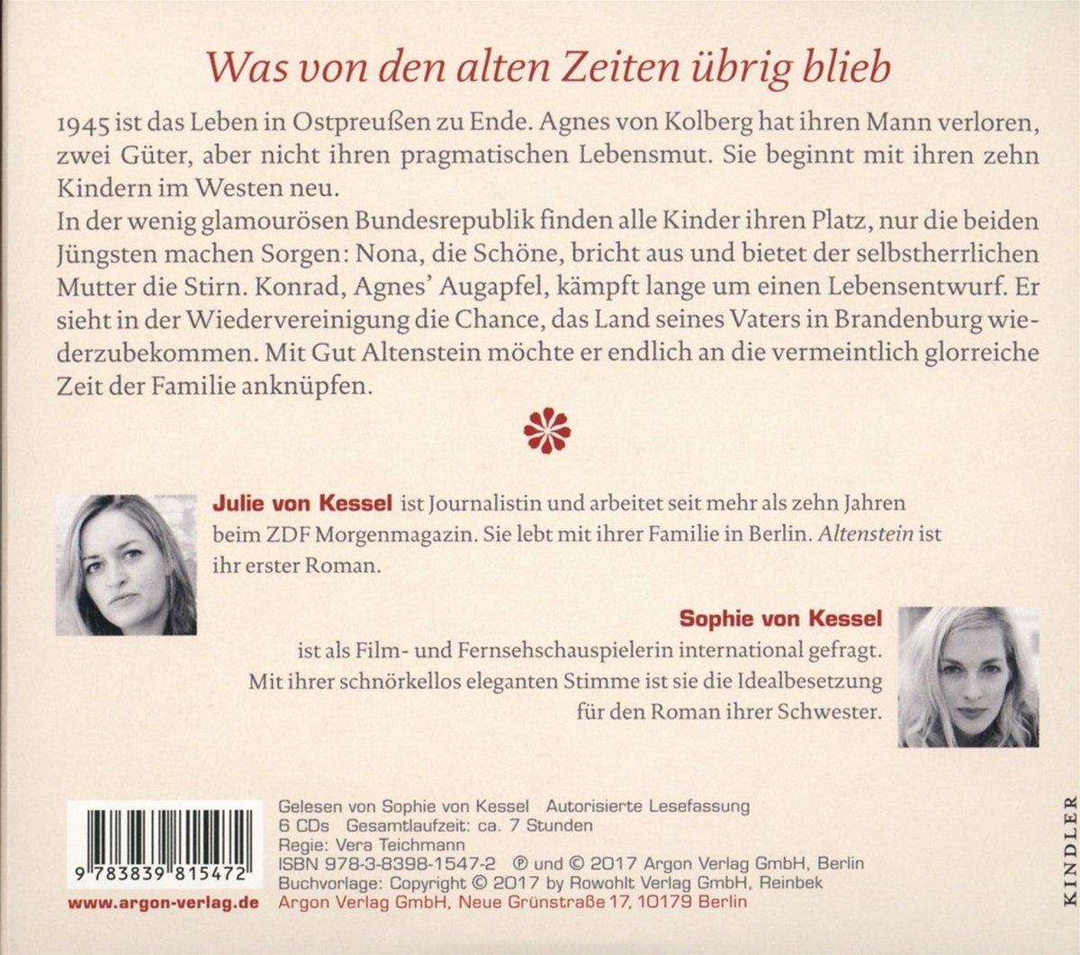 Altenstein: Amazon.de: Julie von Kessel, Sophie von Kessel: Bücher