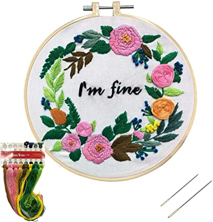 Funny cross stitch kit don/'t herd me embroidery kit