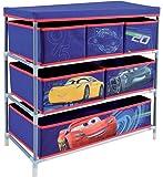 Fun House 712765  Etagère 6 casiers pour Enfant Métal/PP/Carton Bleu 66 x 30 x 63,5 cm