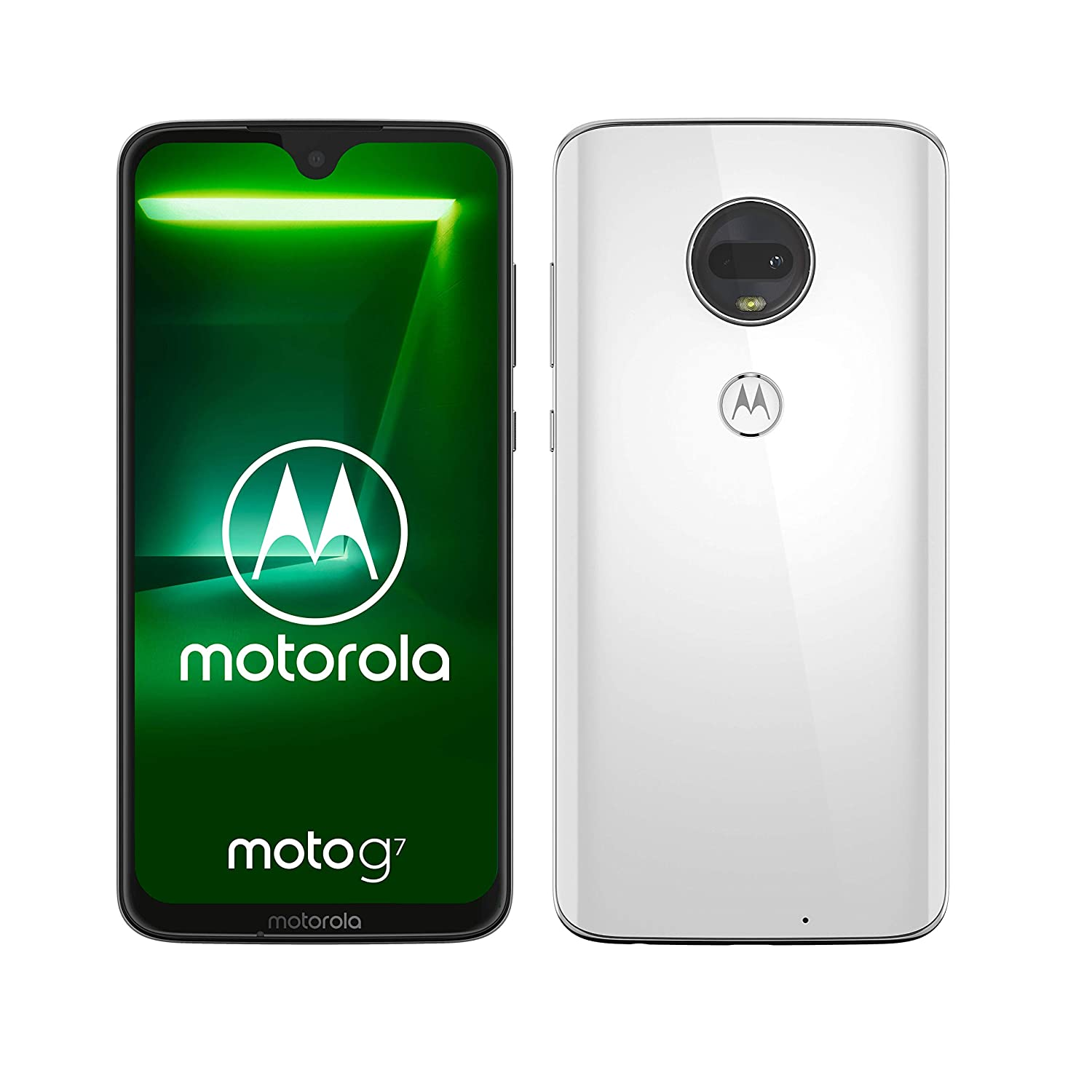 motorola moto g7 6 24-Inch Android 9 0 Pie UK Sim-Free Smartphone with 4GB  RAM and 64GB Storage (Dual Sim) – White (Exclusive to Amazon)