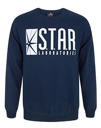 DC Comics Official Flash TV Star Laboratories Unisex Sweater (S)