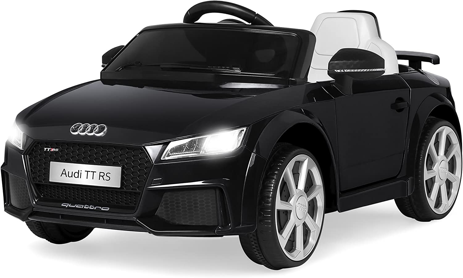 Best Choice Products 6V Kids Licensed Audi TT RS Ride On Car w/ Parent Control, 2 Speeds, Suspension, AUX Input - Black