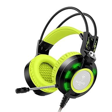 Móvil, Nubwo estéreo Gaming auriculares con micrófono, auriculares de auriculares Auriculares con control de