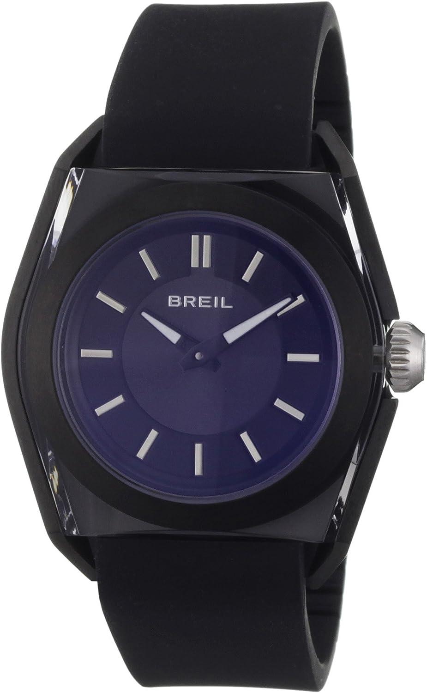 Breil TW0808 - Reloj analógico de Cuarzo para Hombre con Correa de Piel, Color Negro
