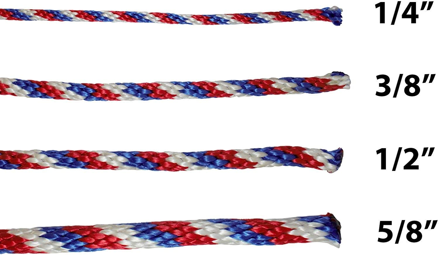 SGT KNOTS Solid Braided Polypropylene Derby Rope Multifilament Rope for Boating Docks 1//2 x 500ft, Black Crafting