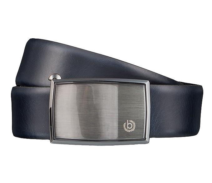 2019 am besten feinste Stoffe wo zu kaufen Bugatti Gürtel Leder Herrengürtel Ledergürtel Automatikschließe 35 mm Blau  4187