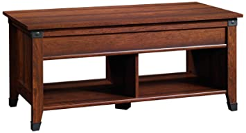 Sauder Carson Forge Lift Top Coffee Table, Washington Cherry Finish