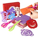 200 Pcs Kids Paper Cutting Set Paper Activity Toys with 2 Safe Scissors Educational Toys for Kids Gift Idea