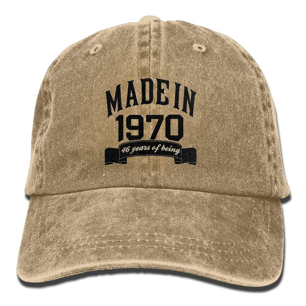Trableade Made In 1970 46 Years Of Being 46th Birthday Adult Sport Adjustable Structured Baseball Cowboy Hat