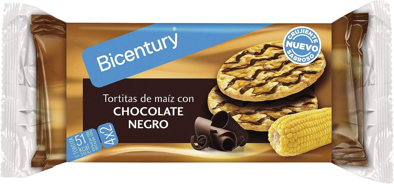 Bicentury Tortitas de Maíz con Chocolate Negro, Pack de 4 x ...