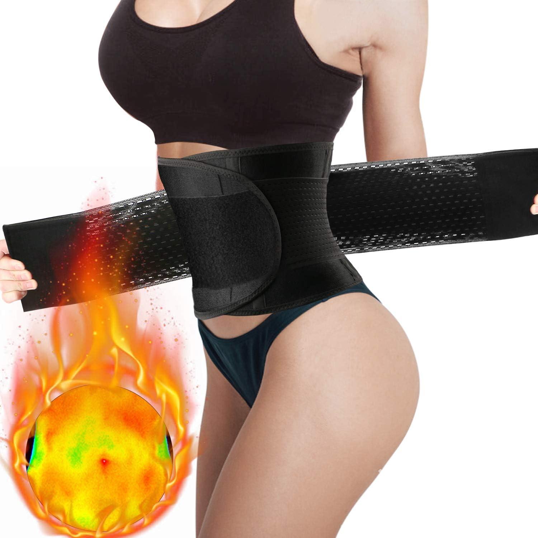 WOSTOO Mujer Cintura Entrenador, Fajas Reductoras Adelgazantes Mujer Fajas Reductoras Adelgazantes Faja Reductora Cinturón Lumbar Abdomen Adjustable para Deporte Fitness