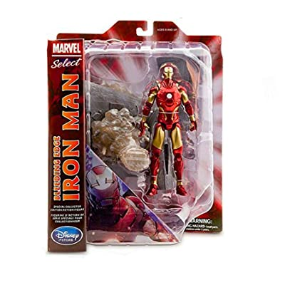 Marvel Select Action Figure Bleeding Edge Iron Man: Toys & Games
