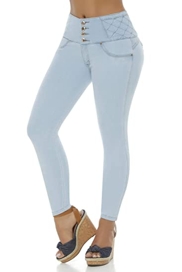 e19159badf Image Unavailable. Image not available for. Color  VEROX JEANS Pantalones  Colombianos Levanta Cola Colombian Jeans Levantacola 3113