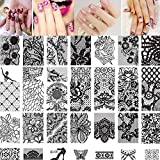 Doinshop 10pcs Women Nail Art DIY Nail Stamp Stamping Image Plate Print Nail Art Template