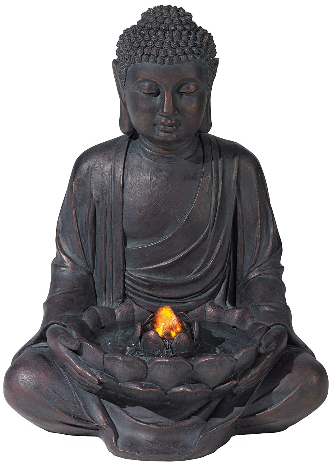 John Timberland  Zen Buddha Tabletop Water Fountain