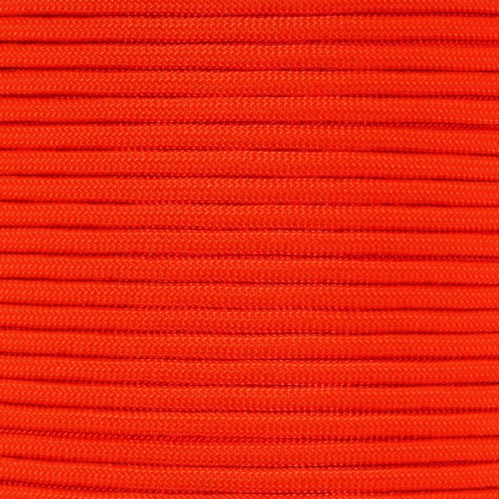 PARACORD PLANET 10 20 25 50 100 Foot Hanks and 250 1000 Foot Spools of Parachute 550 Cord Type III 7 Strand Paracord (Orange 100 Feet)