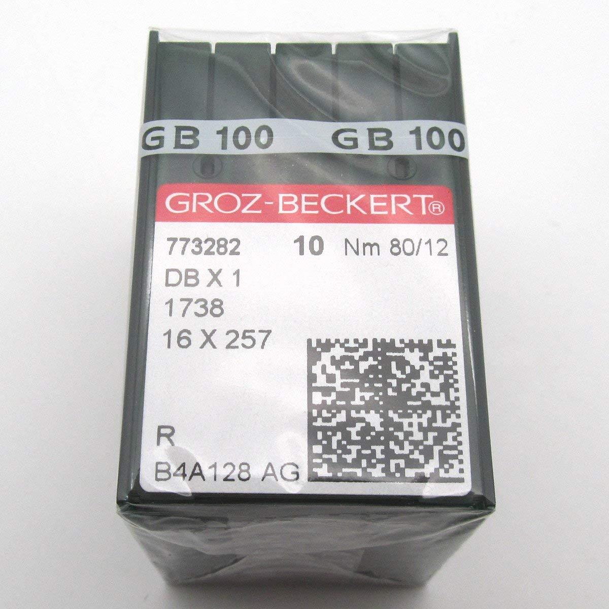 ckpsms GROZ-BECKERT Needle - 100PCS Groz Beckert DBX1 1738 16X257 Sewing Machine Needles (Groz Beckert DBX1 14/90) by ckpsms