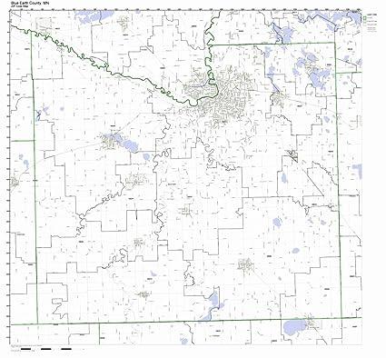Amazon Com Blue Earth County Minnesota Mn Zip Code Map Not