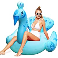 Color You Inflatable Peacock Swimming Pool Floats Ride-on