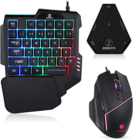 Zjfksdyx C91pro Beleuchtete Gaming Tastatur Und Maus Amazon De Elektronik