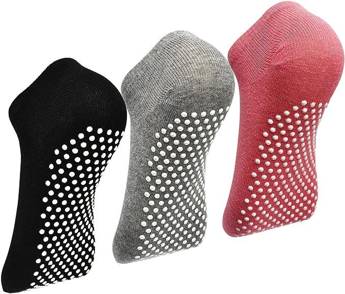 Non Skid Slip Sticky Grippers Socks Pilates Ballet Barre Yoga Socks for Women