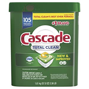 Cascade Total Clean ActionPacs, Dishwasher Detergent, Fresh Scent - 105 Count
