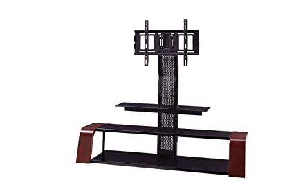 Amazon Com Sandberg Furniture Aria Tv Stand With Swivel Mount