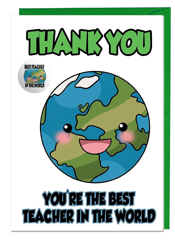 Tarjeta de agradecimiento e insignia para un profesor, eres ...