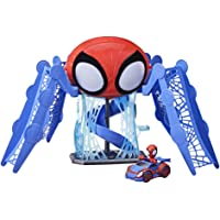Marvel Spidey and His Amazing Friends Web-Quarters Playset with Lights and Sounds, Includes Spidey Figure and Vehicle…