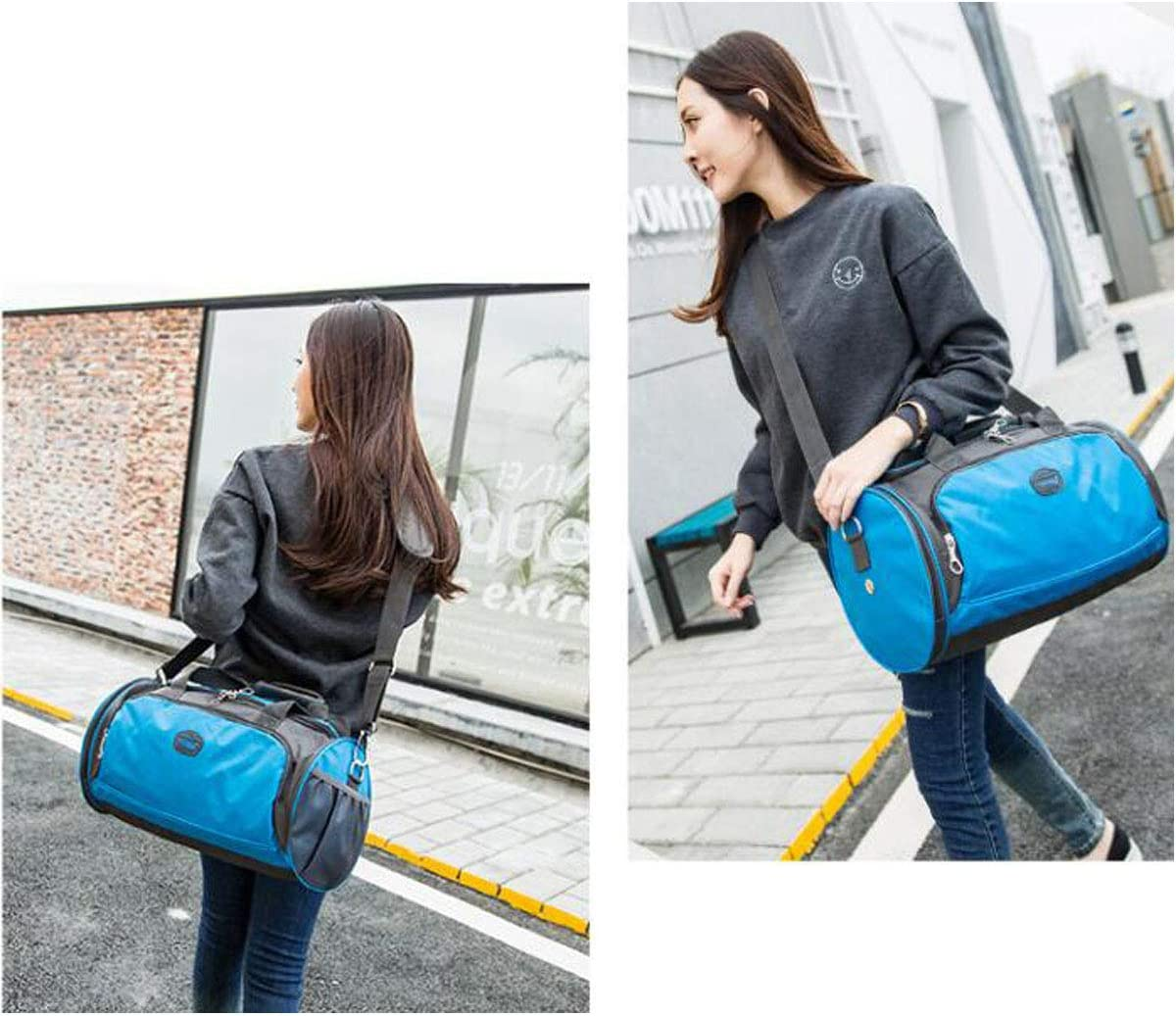 Yoga Bag Large Size: 452626 Color : Purple, Size : 169.69.6 incg Fitness Bag Small Travel Bag Dark Blue -811 One-Shoulder Diagonal Training Bag