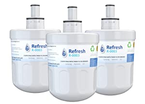 Refresh Replacement for Samsung Aqua-Pure Plus DA29-00003G, DA29-00003A, DA2900002B, DA2900003, DA2900003F, DA290002, HAFCU1, HAFIN2 and Waterdrop WD-DA-29-00003G Refrigerator Water Filter (3 Pack)