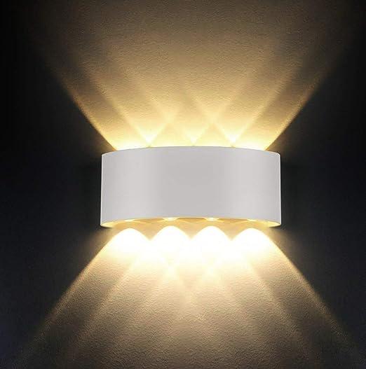 Lampada da parete,Moderno 8W LED Interni Applique da parete decorativa per  soggiorno,camera da letto,corridoio,scale,percorso