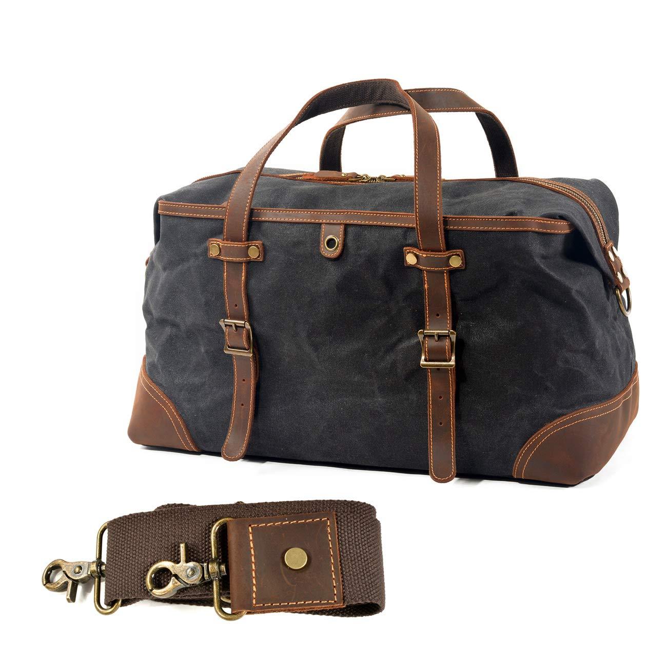 Amazon.com: WUDON Bolsa de viaje de piel de lona para hombre ...