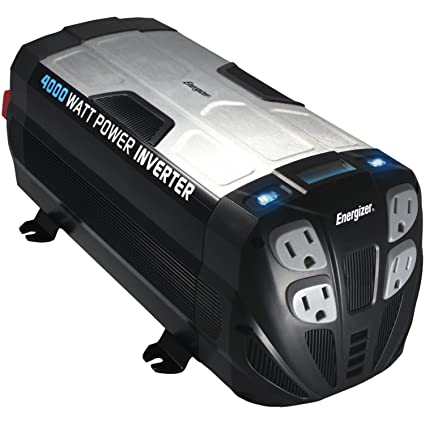 Amazon.com: ENERGIZER Power Inverter converts 12V DC from cars battery to 120 Volt AC with 2 USB ports 2.1A shared compatible with iPad iPhone (4000 ...